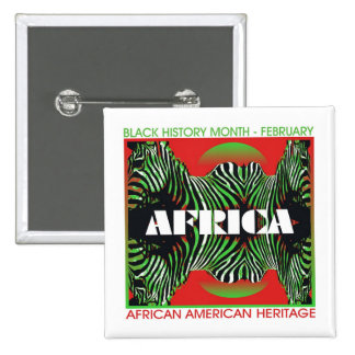Africa 2 Inch Square Button