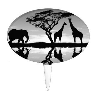 Africa Cake Toppers