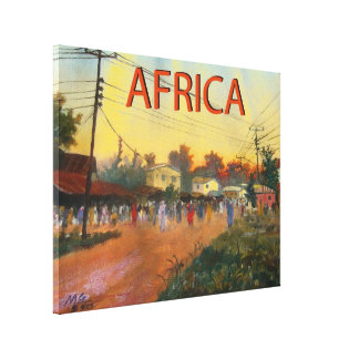 AFRICA CANVAS PRINT MOJISOLA A GBADAMOSI OKUBULE