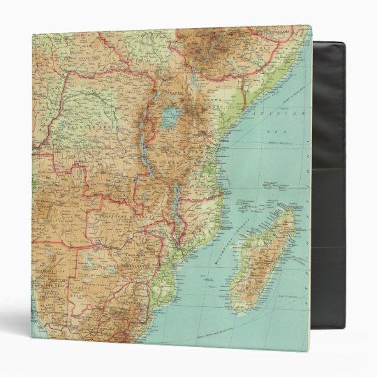"""África central y meridional con las rutas de envío carpeta 1 1/2"""""""