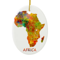 Africa Ceramic Ornament