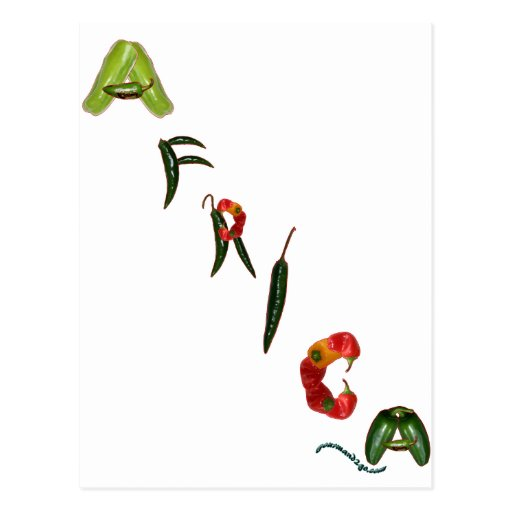 Africa Chili Peppers Postcard
