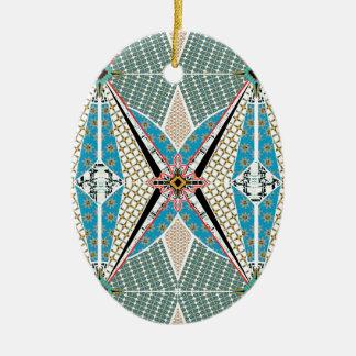Africa Circle Ceramic Ornament