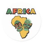 Africa Classic Round Sticker