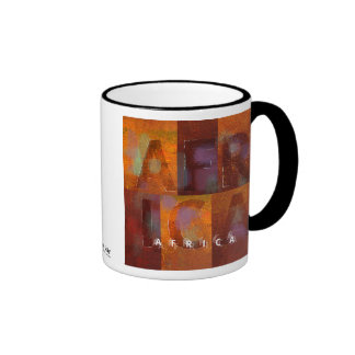 """África (colección de los """"cuadrados"""") taza de dos colores"""