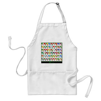 Africa Collage Adult Apron
