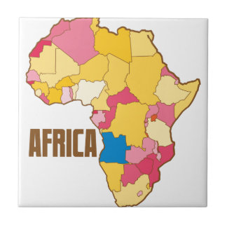 AFRICA colour map nation Tile