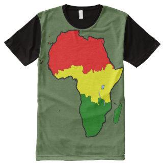 África como una playera con estampado integral