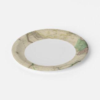 África compuesta plato de papel de 7 pulgadas