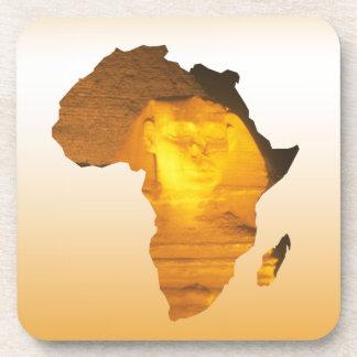 África con la esfinge posavasos de bebidas