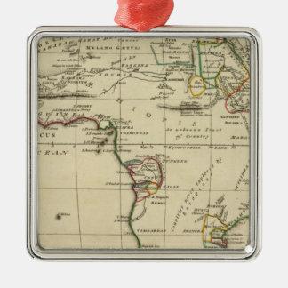 África con los límites resumidos adorno cuadrado plateado