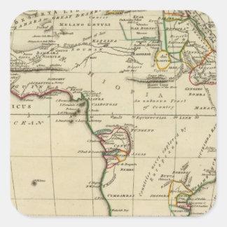 África con los límites resumidos pegatina cuadrada