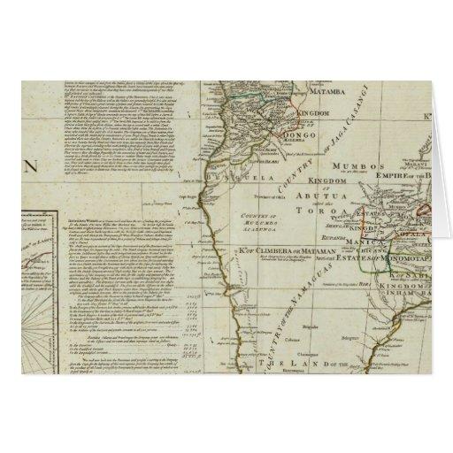 África, con todos sus estados, reinos tarjeta de felicitación