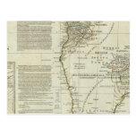 África, con todos sus estados, reinos tarjeta postal