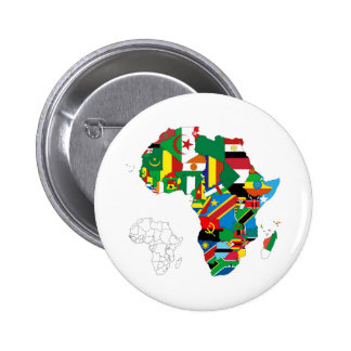 Africa Continent Flag Map 2 Inch Round Button