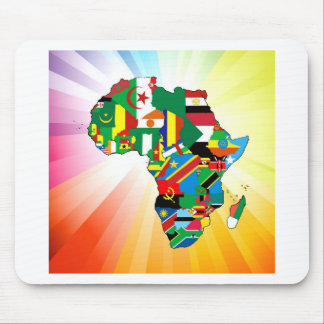 Africa Continent Flag Map 2 Mouse Pad