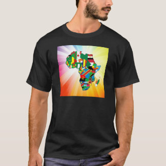 Africa Continent Flag Map 2 T-Shirt