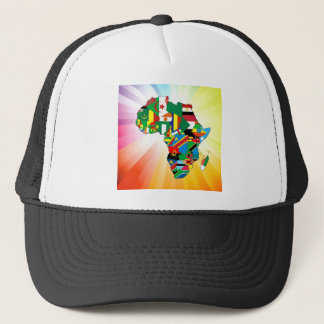 Africa Continent Flag Map 2 Trucker Hat