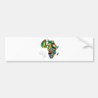 Africa Continent Flag Map Car Bumper Sticker