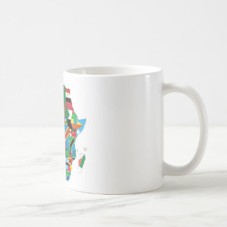 Africa Continent Flag Map Coffee Mug