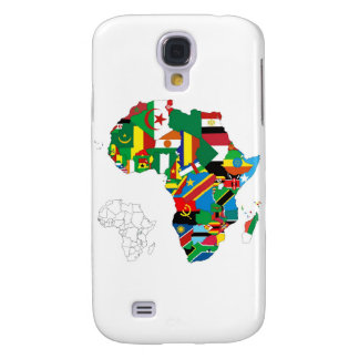 Africa Continent Flag Map Galaxy S4 Case
