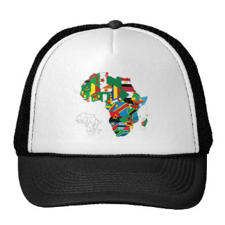 Africa Continent Flag Map Trucker Hat