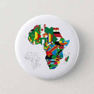 Africa Continent Flag Map Pinback Button