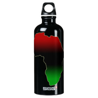 Africa continent in red, green, & black SIGG traveler 0.6L water bottle