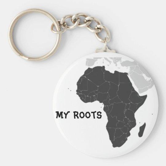 Africa Continent Keychain