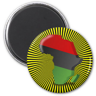 Africa Continent 2 Inch Round Magnet