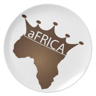 África coronó plato