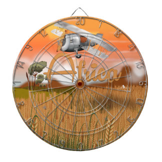 Africa Crop field travel poster Dartboard With Darts