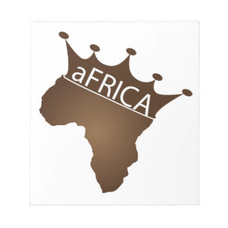 aFRICA Crowned Notepad
