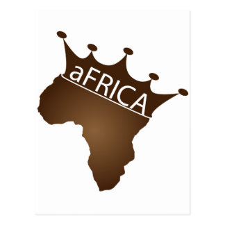aFRICA Crowned Postcard