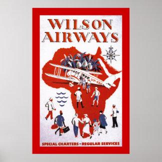 ~ África de las vías aéreas de Wilson Posters