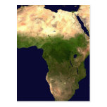 África del espacio tarjeta postal