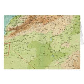 África del noroeste con las rutas de envío tarjeta de felicitación