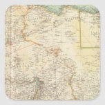 África del Norte 10911 Pegatina Cuadrada