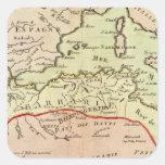 África del Norte 2 Pegatina Cuadrada