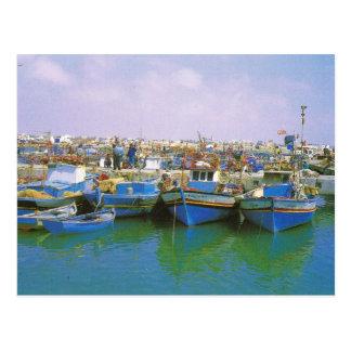 África del Norte, Jerba, Túnez, barcos tradicional Postales