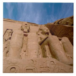 África, Egipto, Abu Simbel, Ramses II y Azulejo Cuadrado Grande