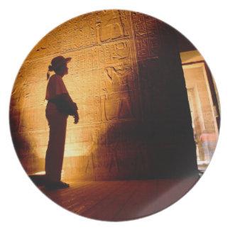 África, Egipto, Asuán, Philae, complejo del templo Plato Para Fiesta