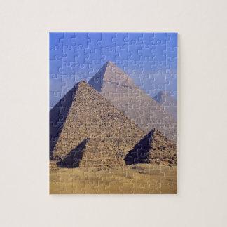 África, Egipto, El Cairo, Giza. Grandes pirámides Rompecabeza Con Fotos