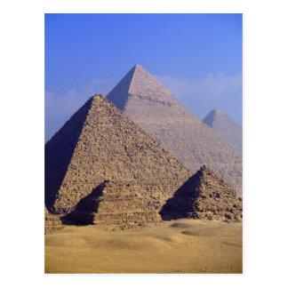 África, Egipto, El Cairo, Giza. Grandes pirámides Tarjeta Postal
