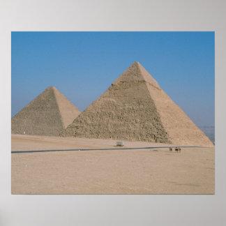 África - Egipto - El Cairo - grandes pirámides de  Póster