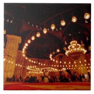 África, Egipto, El Cairo, Mohamed Ali Mosque, Azulejo Cuadrado Grande