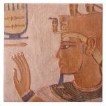 África, Egipto, valle de los reyes. Pared de la tu Azulejo Cuadrado Grande