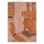 África, Egipto, valle de los reyes. Pared de la tu Tarjeta De Felicitación