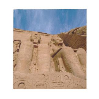Africa, Egypt, Abu Simbel, Ramses II and Notepad