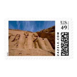 Africa, Egypt, Abu Simbel, Ramses II and Stamp